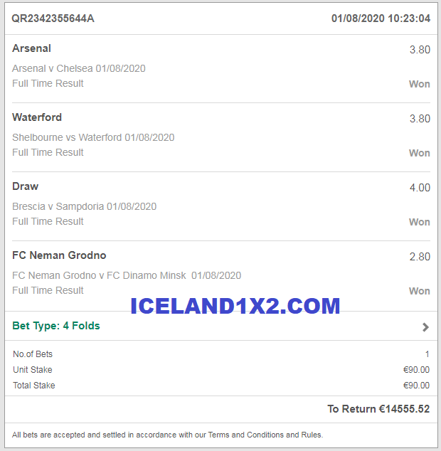 iceland best fixed matches 1x2 won 01 08