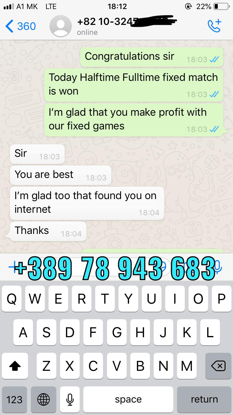 FIXED MATCHES WHATSAPP PROOF 26 12