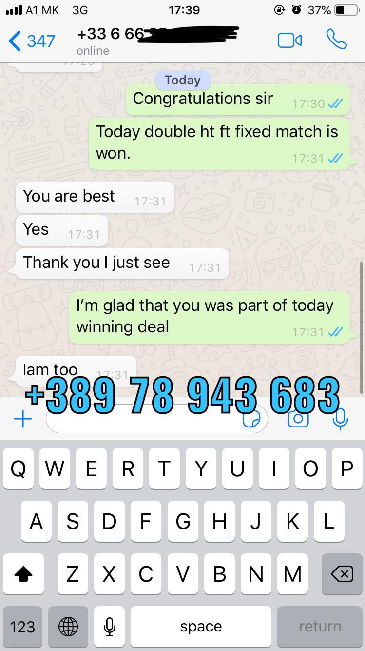 PROOF OF HT FT FIXED MATCHES WON ON 03 05